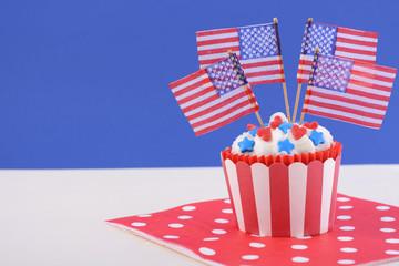 USA theme cupcake