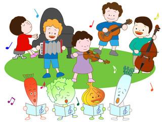 野菜と子供の音楽祭