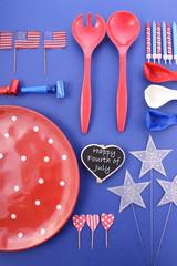 Happy Fourth of July BBQ and Party Table