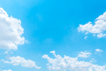 Nice blue sky with cloud, nature background
