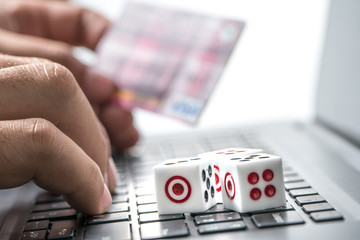 Businesses use the laptop with gambling.