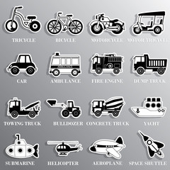 black and white cute vehicle