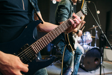 Music Guitarist Performance Stage Playing Hobby Lifestyle Concept