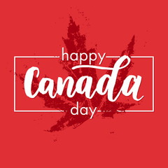 happy canada day greeting card poster