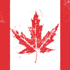 Vector greeting card for Canada Day.