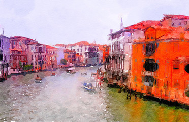 Crand Canal ,Venice Italy