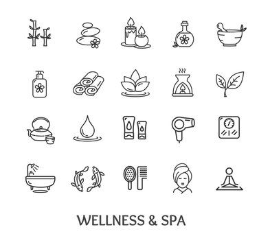 Spa Icon Set. Vector