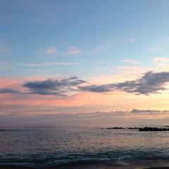 il mare di sera