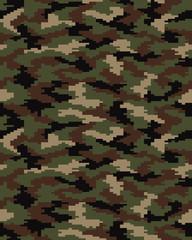Digital fashion camouflage pattern, seamless vector