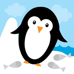 cute penguin design