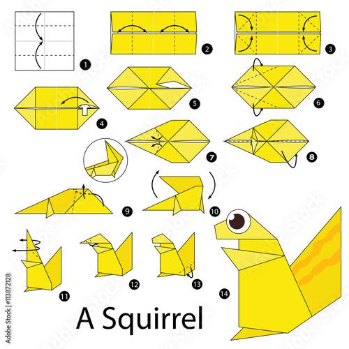 easy origami squirrel 28 images origami squirrel