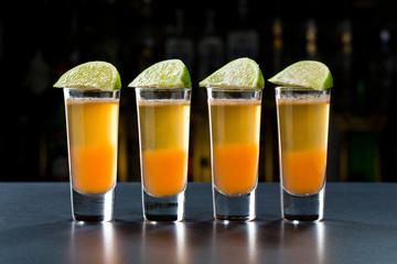 Passionfruit alcohol shots.