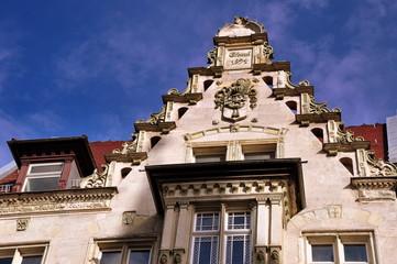 Giebel eines prächtigen Bürgerhauses am Anger zu Erfurt