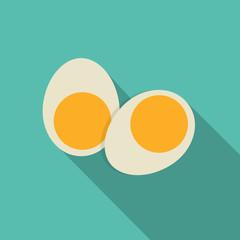 Breakfast Boiled Eggs Icon in Modern Flat Style Vector Illustrat