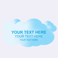 Cloud with Text Space, abstract vector background