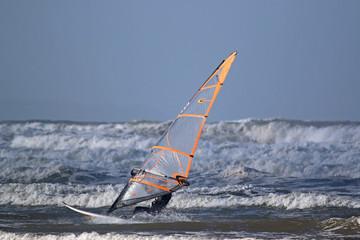 Windsurfer in Waves