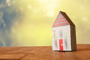 image of vintage wooden colorful house decoration