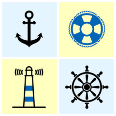Nautical Symbols Set