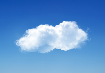 Poster de jardin Ciel Single cloud in summer sky