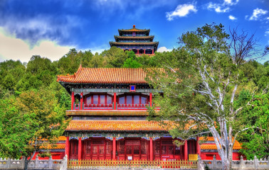 North Gate and Wanchun Pavilion in Jingshan Park - Beijing