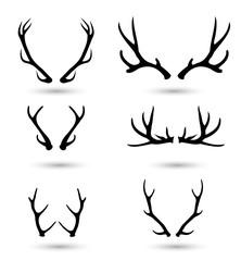 Antlers set vector