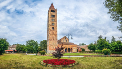 Historic Abbey of Pomposa and famous monastery, Codigoro, Emilia-Romagna, Italy Wall mural