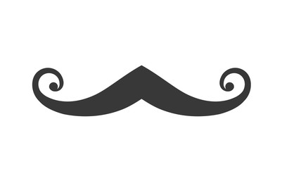 Icon of Mustache on White