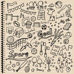 スポーツ 落書き ノート
