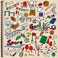 スポーツ 落書き ノート カラー