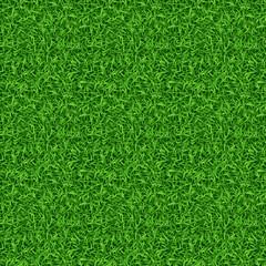 Wall Mural - Seamless green grass vector pattern
