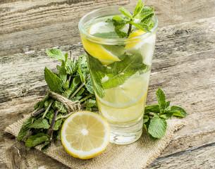 detox water lemon mint