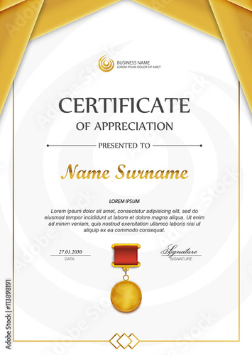 Qualification Certificate Blank Template Stock Image And Royalty