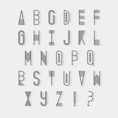 Original ethnic latin alphabet set.