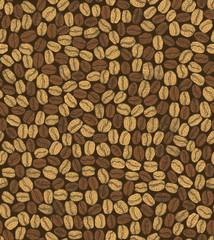 vector dark seamless hand-drawn coffee background