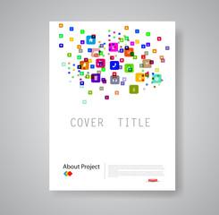Modern abstract brochure book flyer design template