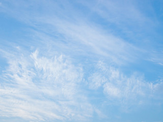 Blue sky with the white cloud background