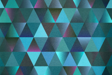 Pattern of gradient and colorful triangle.