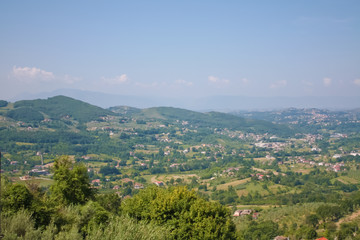 Panorama view from Arpino's Town