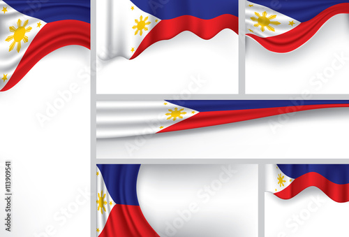 Abstract Philippine Flag Philippines Colors Vector Art