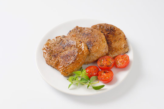 herb rubbed pork chops