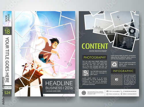 Brochure Design Template VectorPhotography Flyers Business - Portfolio brochure template