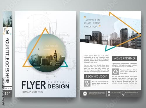 """""""Flyers design template vector.Business brochure report"""