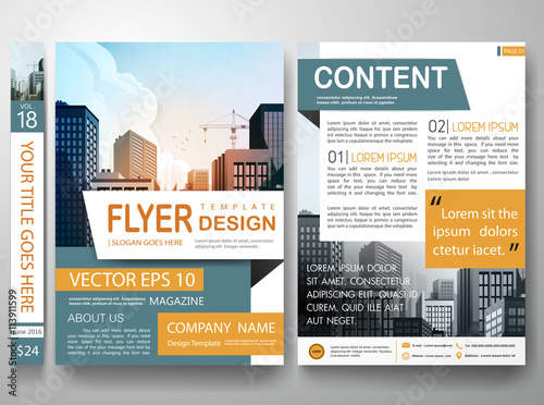 Flyers Design Template VectorCity Design On A Brochure Layout - Brochure layout template