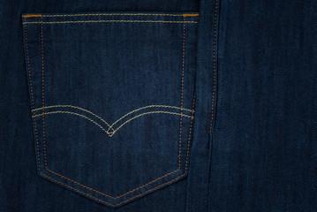 Closeup pocket jean background