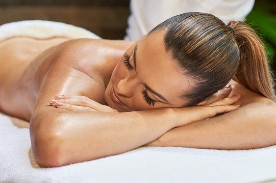 asian back massage theraphy spa hot stone