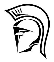 warrior helmet symbol