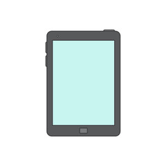 Tablet computer line icon.
