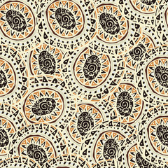 Hand drawn colorful Indian seamless patterns ornaments in boho s