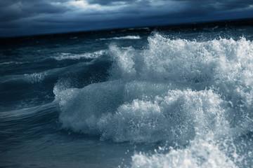 Big Waves Breaking at Shore