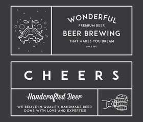 Beer craft White on Black